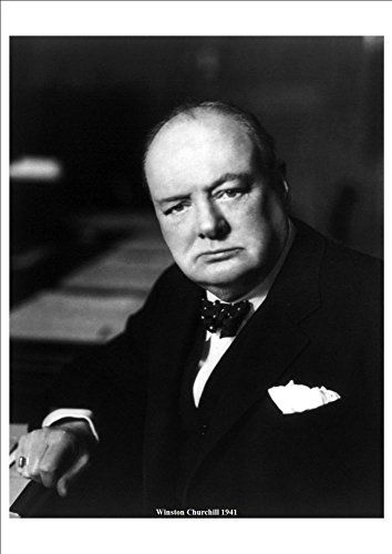 'Winston Churchill' 1941 - A4 Glossy Print Taken From An Old Portrait Photograph by Unknown http://www.amazon.co.uk/dp/B00I1DJ46Y/ref=cm_sw_r_pi_dp_sjbtvb0XTR09A