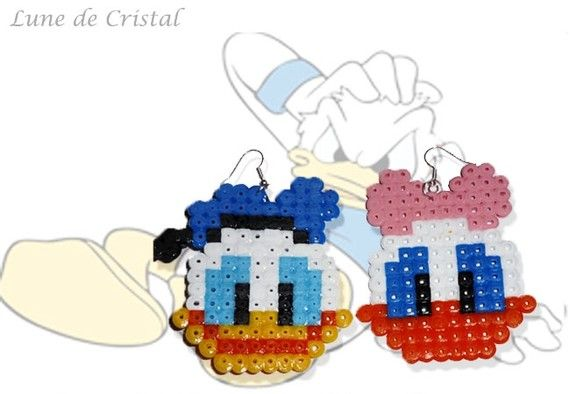 Donald and Daisy hama beads by Lune-De-Cristal