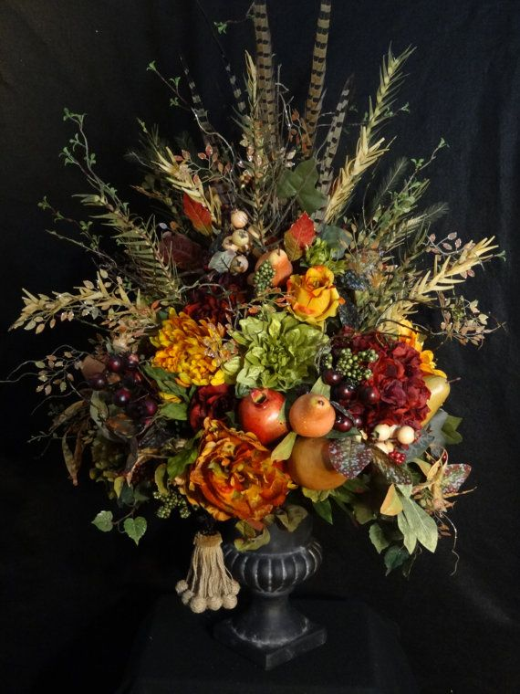 Large Silk flower arrangement,Tuscany Table Centerpiece,Tuscan Arrangement,Luxury arrangement,Flower Arrangement,Silk Flower Arrangments