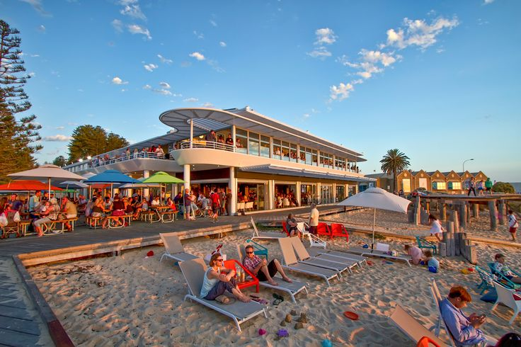 Swim, relax, watch the sunset and enjoy fresh seafood at Bathers Beach House, Fremantle.
