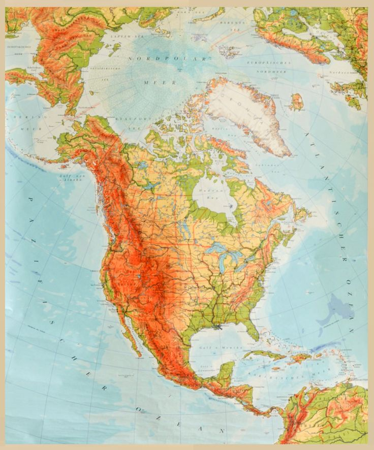 Vereinigte Staaten von Amerika / United States of America / USA + Karte / Map