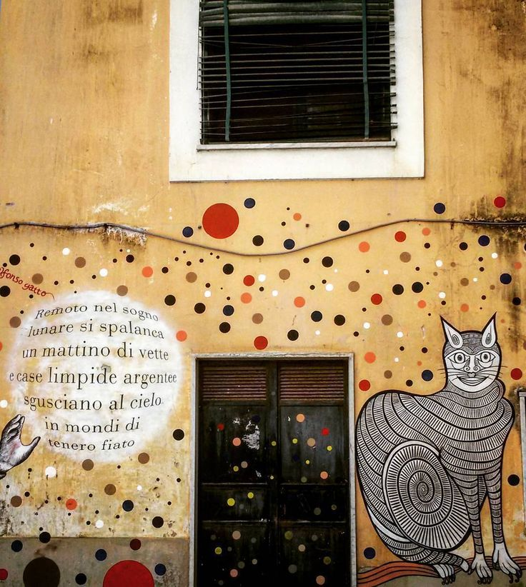 #Streetart in #Salerno city center  #art #artist #urbanart #cat