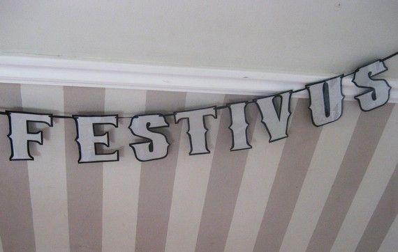 FESTIVUS Banner  HAPPY FESTIVUS Traditional Aluminum by Devany, $20.00