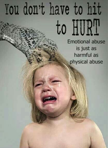 My child is afraid of her father because he is an abusive bully and she watches him leave marks on all the children in his home and his girlfriend doesn't care enough to stop him hurting her kids. Truth.