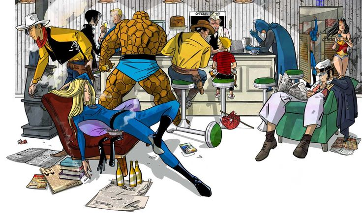 #Avventure di carta: il blog di Ned http://nedbajalica.blogspot.it, #illustration, #Ned, #comics, Fantastic Four
