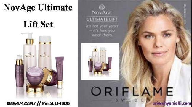 NovAge Ultimate Lift set Perawatan wajah oriflame produk untuk anti penuaan khusus usia 40 tahun. Sri Wahyuni Alfi 089647425947 (SMS/ WA/LINE)   Pin 5E1F4BDB sriwahyuni356@gmail.com
