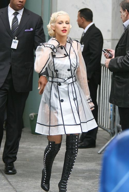 Christina Aguilera Tapes a Performance on The CBS Early Show in NYC to Promote Her New CD..Pictured: Christina Aguilera.Ref: SPL186375  090610  .Picture by: Jennifer Mitchell / Splash News..Splash News and Pictures.Los Angeles:310-821-2666.New York:212-619-2666.London:870-934-2666.photodesk@splashnews.com.