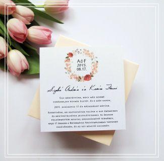 Esküvői meghívó – tavasz