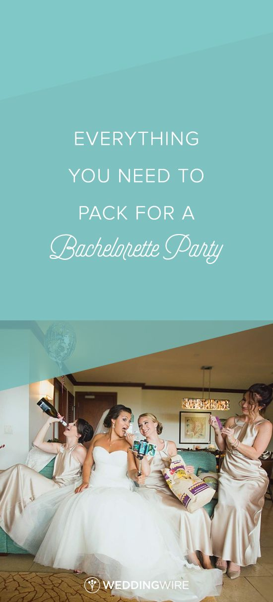 Everything You Need to Pack for a Bachelorette Party - From dry shampoo to your LBD,  see our bachelorette party checklist so you don't forget a thing on @weddingwire!  {Kpix Photography}