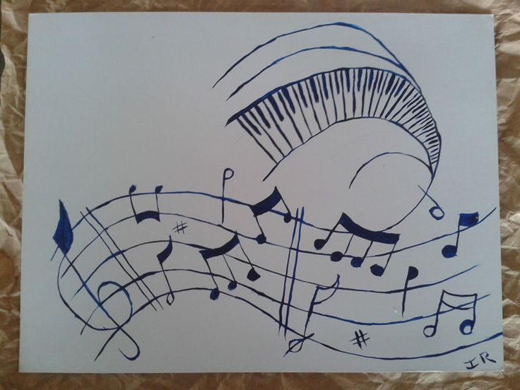 Set of 3 music related prints I have painted