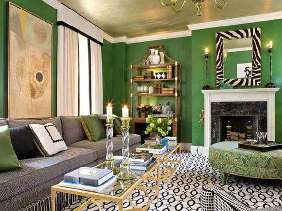 Green Living Room Design Ideas Decorations And Furniture
