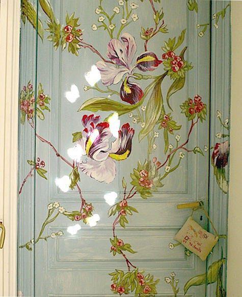 Painted floral door.