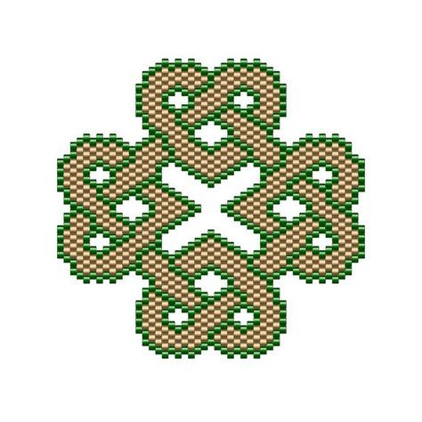 I have always liked the Celtic symbolism of the interconnectedness of life and eternity. Here is one of my freeform peyote stitch patterns of Celtic knotwork. The finished work (using 11/0 Delica beads) measures 2.49 x 2.51 & can be used as a pendant, broach, or sewn onto your favorite accessory. ►This is a digital PATTERN in PDF format only - NOT a finished product. The file will be directly downloadable through Etsy. The PDF file includes: • a computer generated illustration of ...