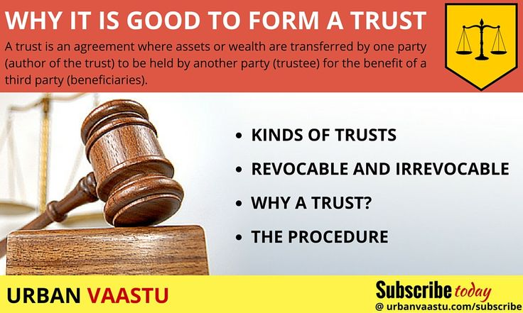 Advisory : Why It Is Good To Form A #Trust