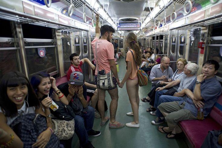 No Pants Subway Ride: an amusing and totally surprising global flash mob phenomenon!