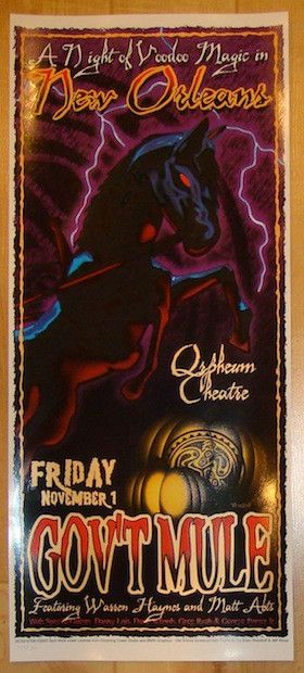 2002 Gov't Mule - New Orleans II Concert Poster by Woodruff/Wood
