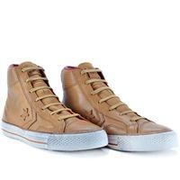Tênis Converse Cons Star Player Leather Hi Amarelo Escuro Bordo BO00050001