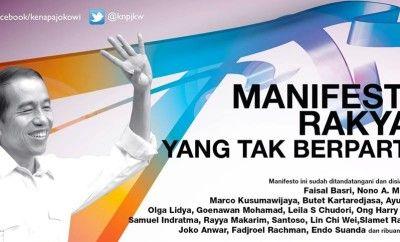 Mari Gabung Untuk Setuju Dengan MANIFESTO Dukung Jokowi