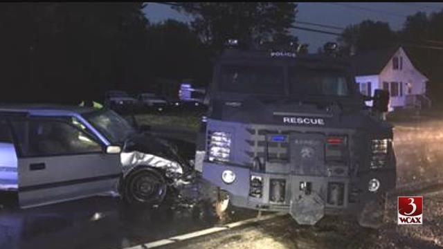 Driver crashes into armored Insurgent.