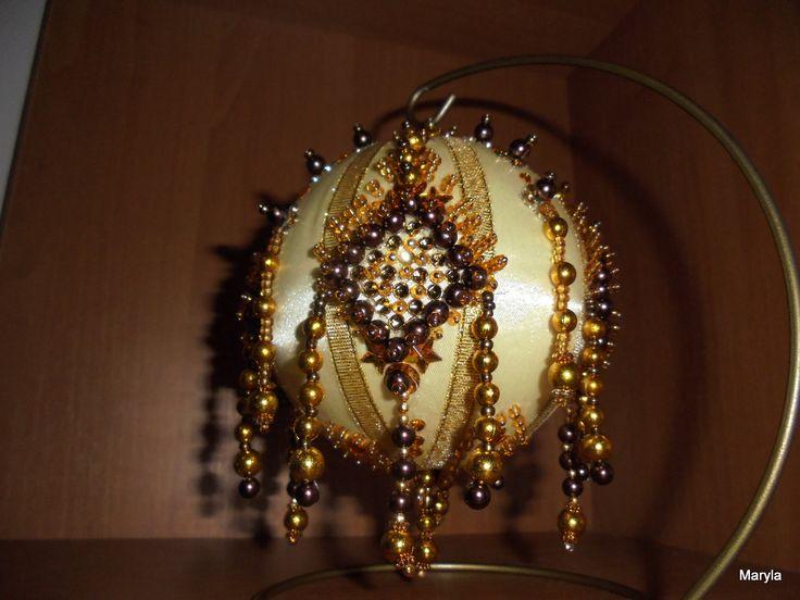 Hobby- moje rękodzieło/ bombka ozdobiona koralikami // Hobby- my crafts / bauble decorated with beads