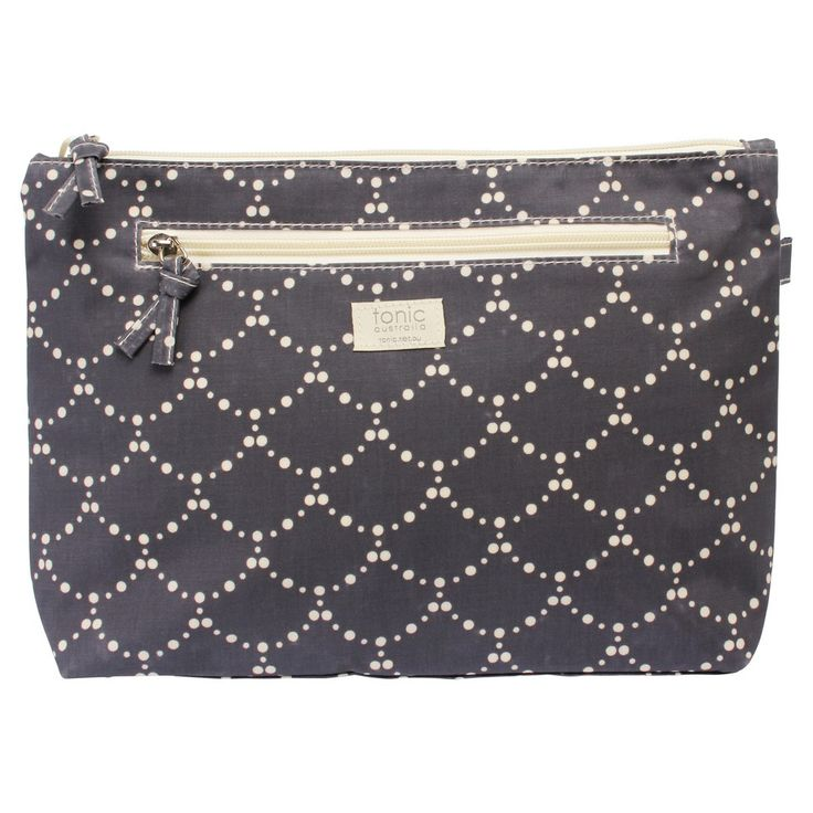 tonic's  cosmetic bags will keep your toiletries safe and secure. Made of 100% cotton waterproof material, these cosmetic bags have a spaciousinner compartment and a zip-top closure.  The small size fits nicely into your handbag, while the large size is ideal for your bathroom and travel.