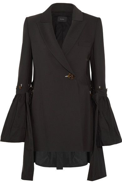 Ellery - Riot Grrl Shell-paneled Crepe Blazer - Black - UK10