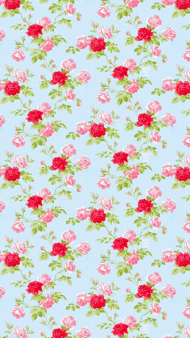 Iphone 5 wallpaper dream house pinterest wallpapers for Floral wallpaper for home