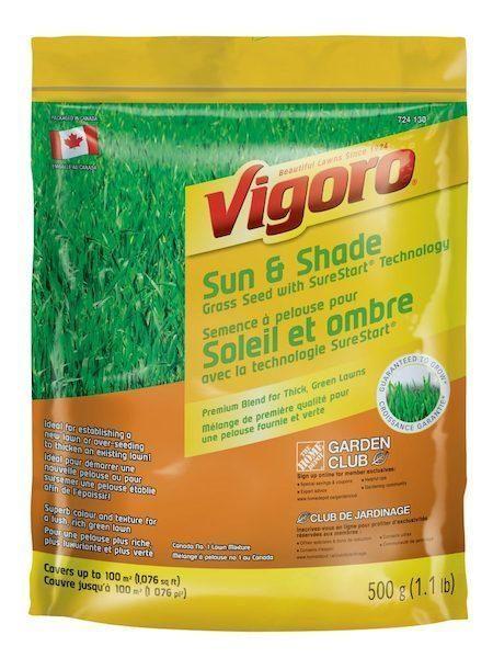 #HomeDepotCanada: [HD] Vigoro Sun & Shade Grass Seed with SureStart Technology (500g-10kg $1.26-11.96) http://www.lavahotdeals.com/ca/cheap/hd-vigoro-sun-shade-grass-seed-surestart-technology/74469