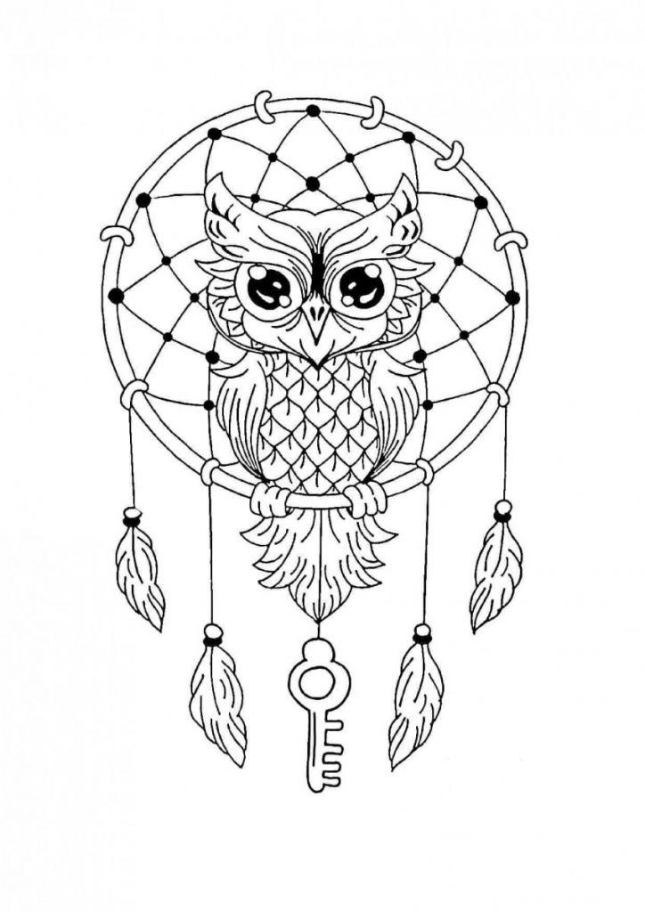 - 44 Printable Mandala Coloring Pages Of Atrapa Sue±os Mandalas Pinterest  Owl Coloring Pages, Mandala Coloring, Cute Coloring Pages