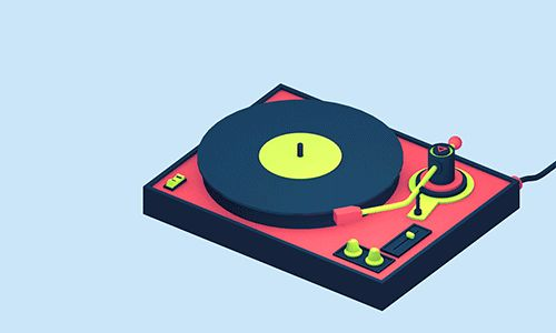 michaelshillingburg:  Just doing some fancy animation tests. Here's a record player.  Nice!!!