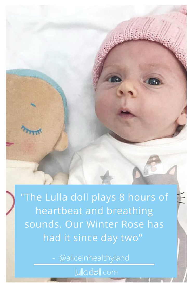 """Little Winnie is a good sleeper so far, we do shower, pjs, cuddles and book, boob to sleep, Ergopouch sleeping bag and Lulla doll at night. She does have a witching hour between 4am and 5am though so we have a cuddle and boobs in my bed. It doesn't always work out that way but that's okay.The Lulla doll plays 8 hours of heartbeat and breathing sounds. Our Winter Rose has had it since day two""⠀  Repost of Instagram from @aliceinhealthyland⠀"