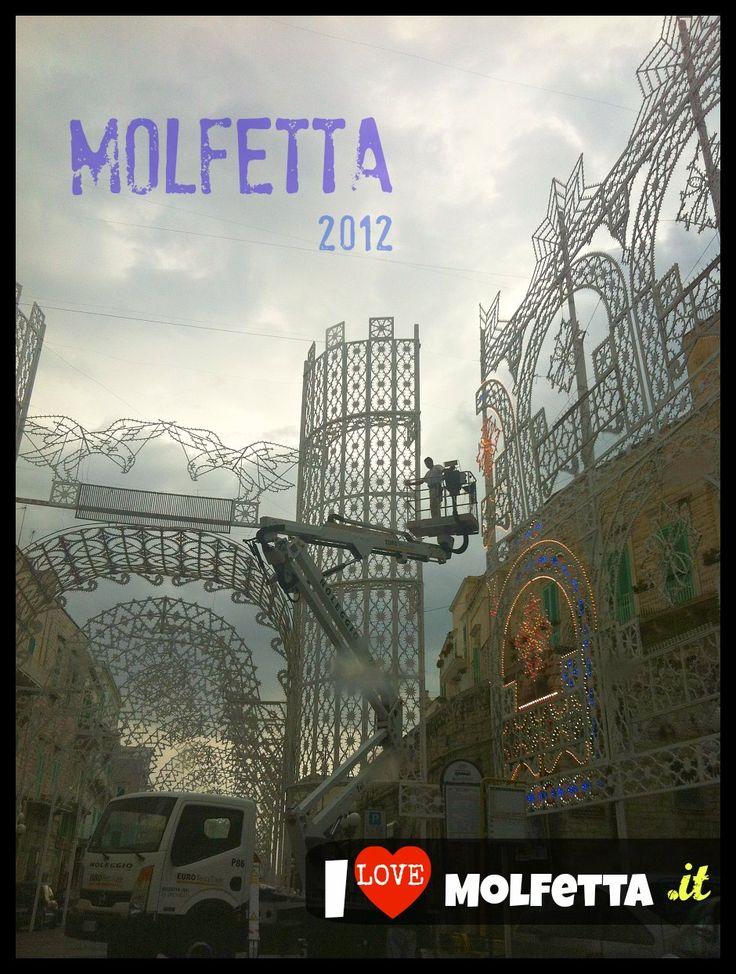 Luminarie Molfetta feast Madonna dei Martiri 2012 www.ilovemolfetta.it