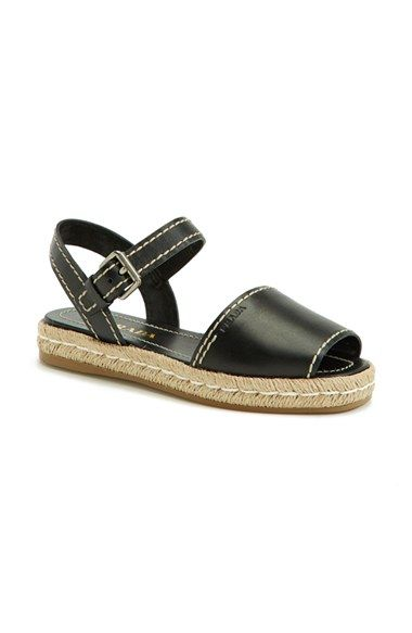 Prada+Flat+Leather+Sandal+(Women)+available+at+#Nordstrom
