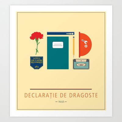 "ROMANIAN MOVIE ""DECLARATIE DE DRAGOSTE"" Art Print by StudioSotron - $17.68"