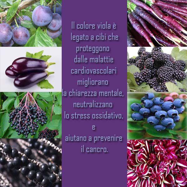 Cibi viola i potenti antiossidanti