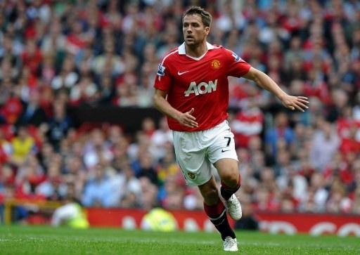 10-11イングランド・プレミアリーグ、マンチェスター・ユナイテッド(Manchester United)対エバートン(Everton)。試合に臨むマンチェスター・ユナイテッドのマイケル・オーウェン(Michael Owen、2011年4月23日撮影)。(c)AFP=時事/AFPBB News