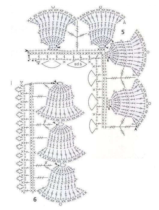 Handmade-kursy ,wzory ,tutoriale: Koronki szydełkowe (filet) schematy