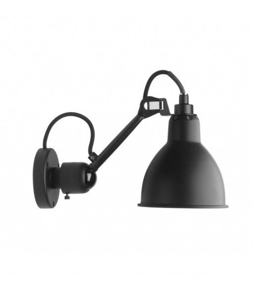 N°304SW WALL LAMP WITH SWITCH BLACK at Spence & Lyda