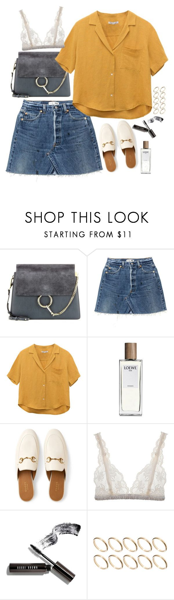 """""""Untitled #1928"""" by samikayy76 ❤ liked on Polyvore featuring Chloé, Loewe, Gucci, Lonely, Bobbi Brown Cosmetics and ASOS"""