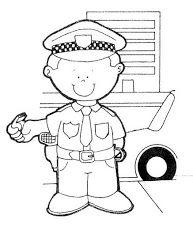 Kleurplaat politieagent