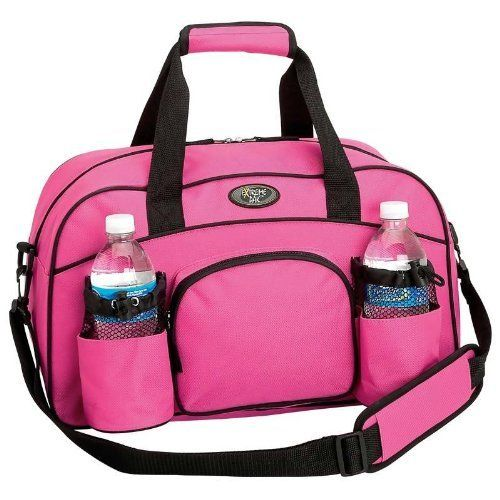 For the gym.: 600D Pink, Water Bottle, Sports Bags, Gym Totes, Luggage Bags, Gym Bags, Pink Sports, Extreme Pak, Duffle Bags