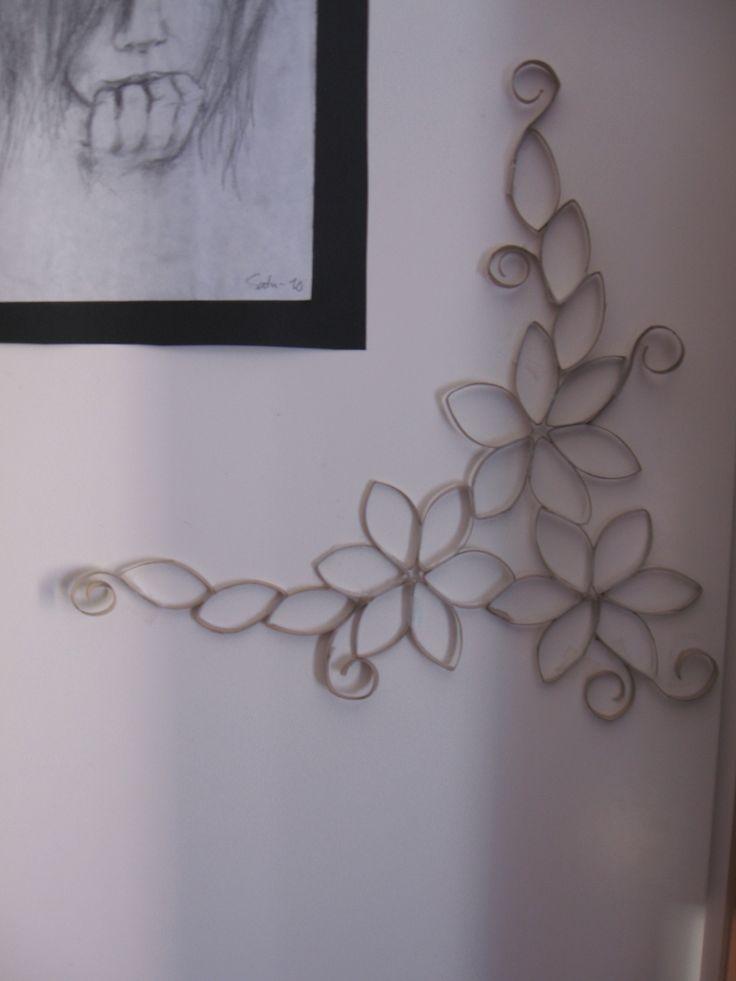 Based on Toilet Paper Roll Wall Art by Lauren M.