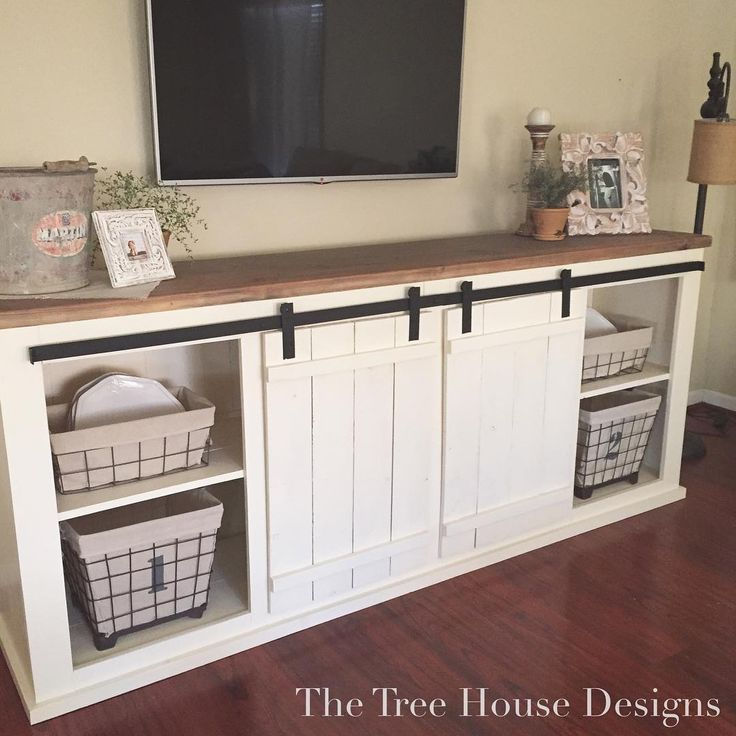 The Talented Just Finished Building This Beautiful Sliding Barn Door Dining Room Sideboard