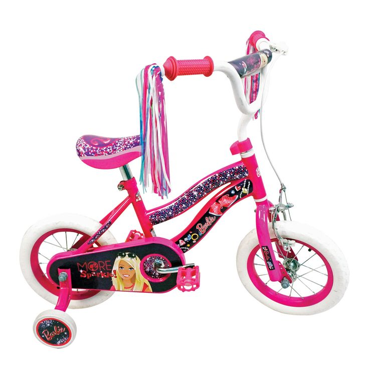 """BARBIE 12"""" EVA Bicycle  Price R999  FEATURES:  TYPE OF BICYCLE: BMX WHEEL SIZE: 12"""" EVA SPEEDS: 1 speed RECOMMENDED AGE GROUP: 2-4 years old TYPE OF BRAKES: Back pedal and front calliper brake CRANK: 1 piece crank FRAME MATERIAL: Steel RIM MATERIAL: Steel SIZE: 12""""  Available at Makro >>http://bit.ly/2gpB1DX #Barbie #Bike #BMX #kids #girls #pink #streamers #YouCanBeAnything"""
