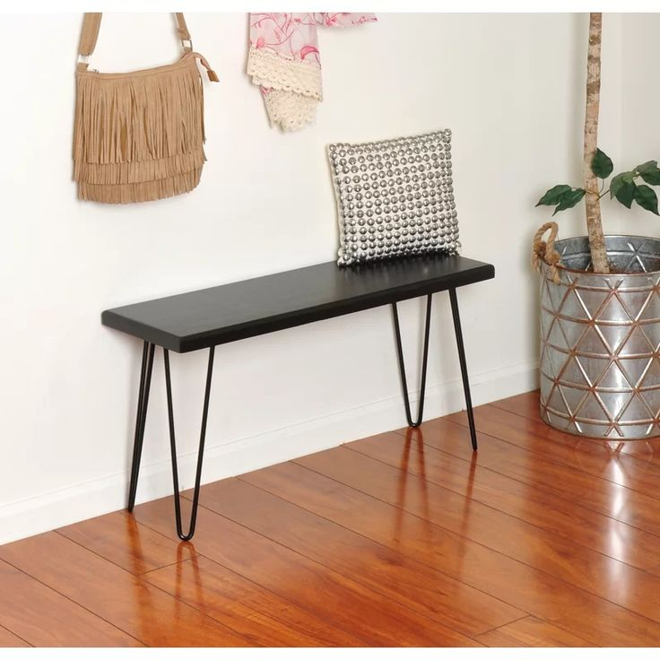 Wood Bench, Small Entryway Bench