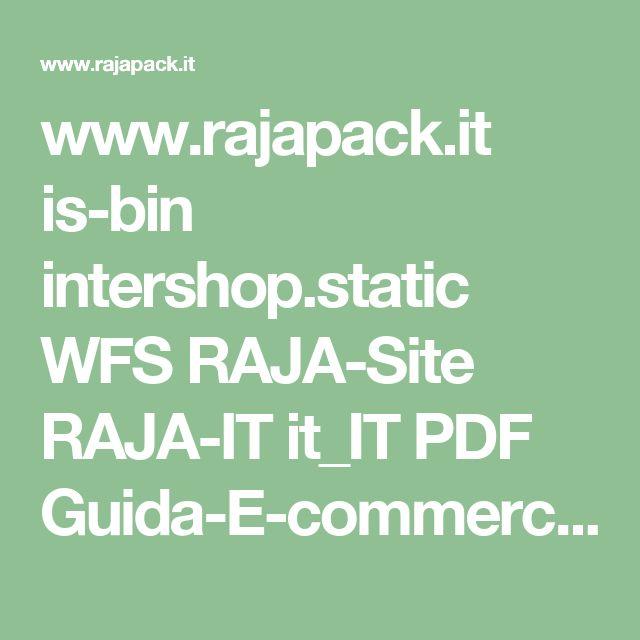 www.rajapack.it is-bin intershop.static WFS RAJA-Site RAJA-IT it_IT PDF Guida-E-commerce.pdf