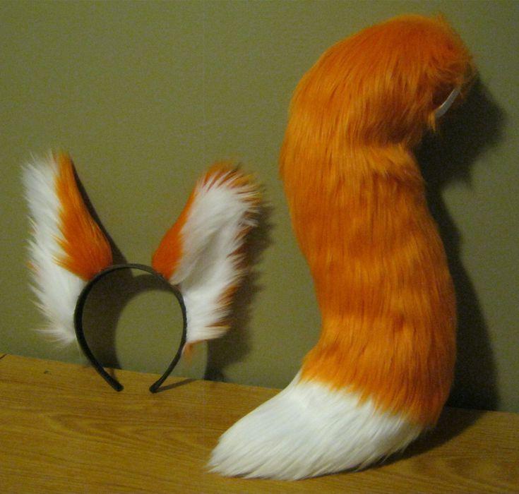 Сделать хвост лисы
