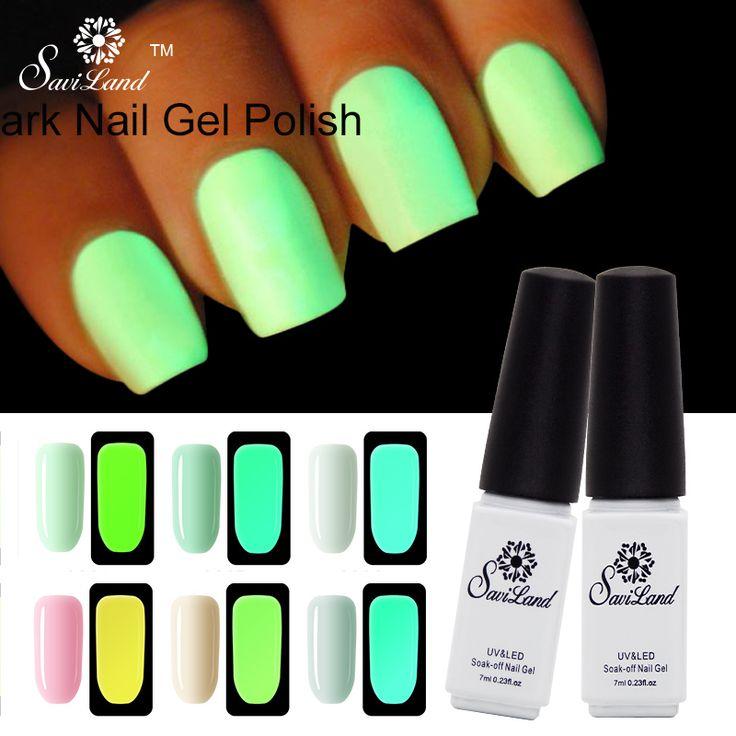 Saviland 1pcs Fluorescent Neon Glow In The Dark Light Luminous Gel Nail Art Nail Polish Esmalte Soak Off Gel Varnish #clothing,#shoes,#jewelry,#women,#men,#hats,#watches,#belts,#fashion,#style