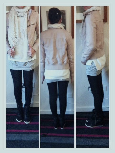 Ready for Winter..A short notice about outfit *primark, zara,legging by audreytanbali, booth by george and syal by forever21