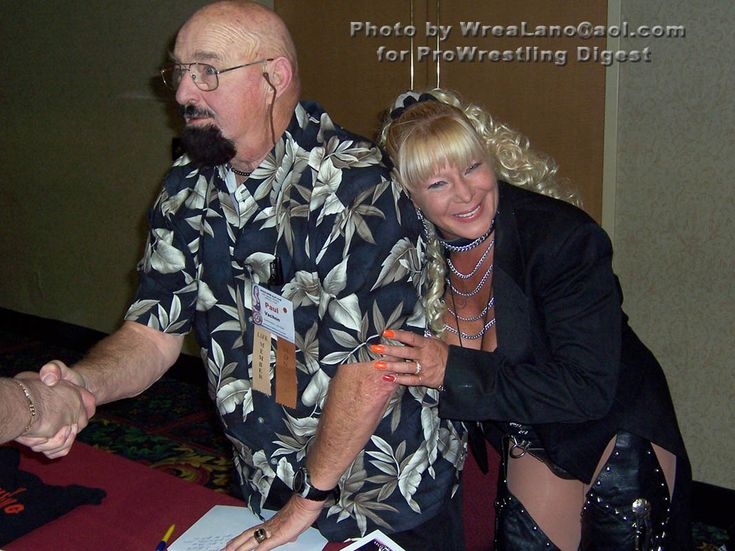 "Wrestling legend Paul ""The Butcher"" Vachon and his daughter female wrestling innovator Luna Vachon, who passed away in August 2010 after an accidental drug overdose#WWE #wwefamilies #wwelegends #RIP"